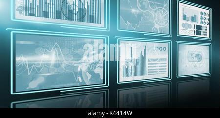 3d image numérique de la croissance de l'entreprise schémas électriques Banque D'Images