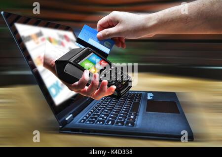 Magasinage en ligne rapide Banque D'Images