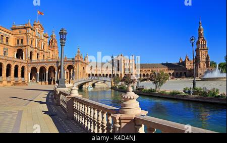 Place d'Espagne à Séville, Espagne Banque D'Images