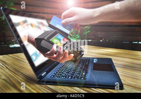 Magasinage en ligne Banque D'Images
