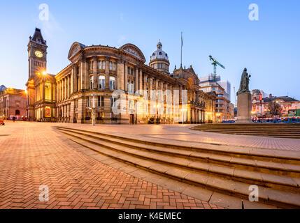 L'Hôtel de ville de Birmingham dans la soirée , West Midlands, Angleterre, RU Banque D'Images