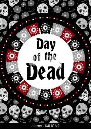 Le Jour des morts les flyer, affiche, invitation. Dia de muertos carte template pour votre conception. Maison de Banque D'Images