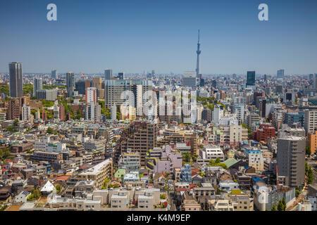 Tokyo cityscape. image de toits de Tokyo au cours de journée ensoleillée au Japon. Banque D'Images