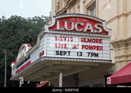Chapiteau de la Lucas theatre, Savannah, Géorgie Banque D'Images