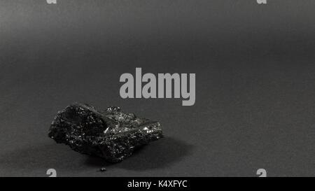 Seul le charbon de pierre fond gris foncé Banque D'Images
