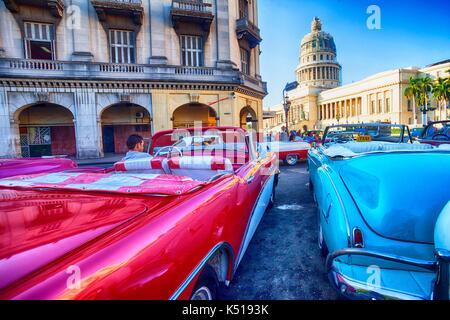 Vieille voiture, La Havane, Cuba Banque D'Images