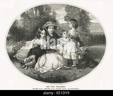 Les filles de la reine Victoria et Albert, vers 1849 Banque D'Images