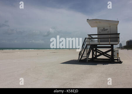 Miami beach, déserte, irma, avant l'ouragan, le 8 septembre 2017 Banque D'Images
