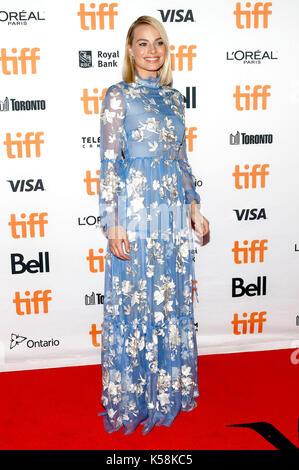 Toronto, Canada. 05Th sep 2017. margot robbie assistant à l 'i, Tonya' premiere au cours de la 42e festival international Banque D'Images