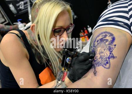 Convention de tatouage au centre de Brighton, des milliers ont participé à la convention où certains des meilleurs Banque D'Images