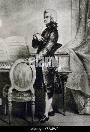 Wolfgang Amadeus Mozart (1756-1791). Compositeur autrichien. Banque D'Images