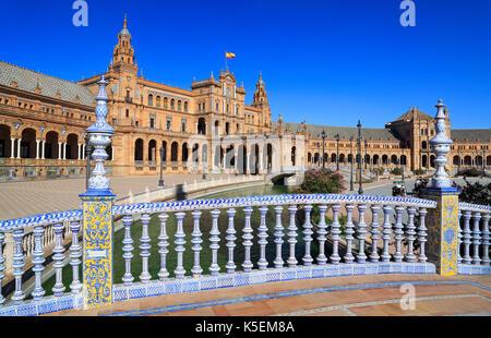 Plaza de España ou place d'Espagne à Séville, Andalousie, espagne Banque D'Images
