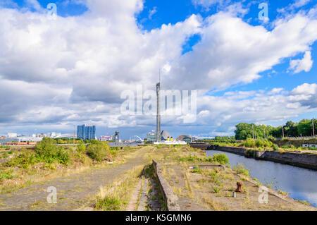 Glasgow, Ecosse, Royaume-Uni. 9 Septembre, 2017. Météo britannique. Docks de Govan construit entre 1869 et 1898 Banque D'Images