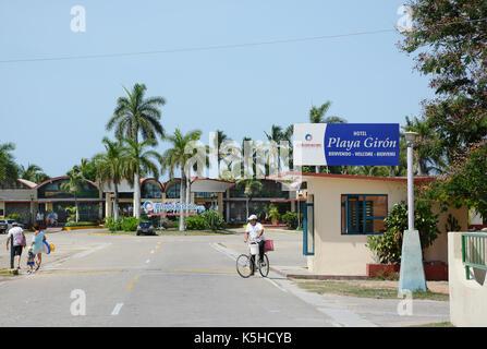 Playa Giron, Cuba - juillet 24, 2016: baie des Cochons. hôtel Playa Giron est une destination favorite pour les Banque D'Images