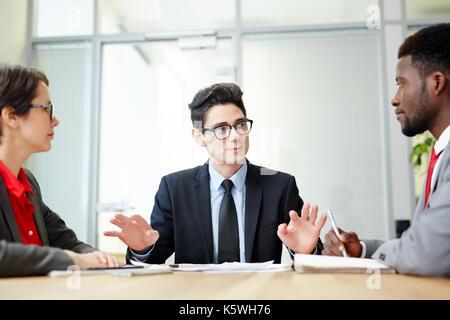 De discuter de stratégies Banque D'Images