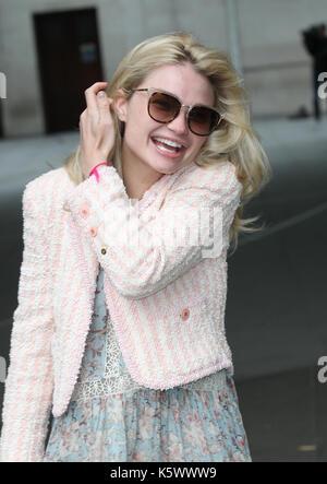 L'actrice Emma rigby vu arrivant à la BBC à Londres le 3ème, sep 2017