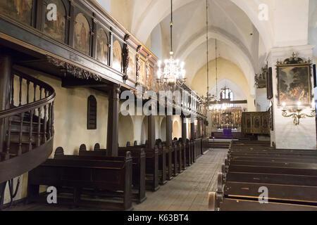Intérieur de l'église du Saint-Esprit, vieille ville, Tallinn, Estonie, Europe Banque D'Images