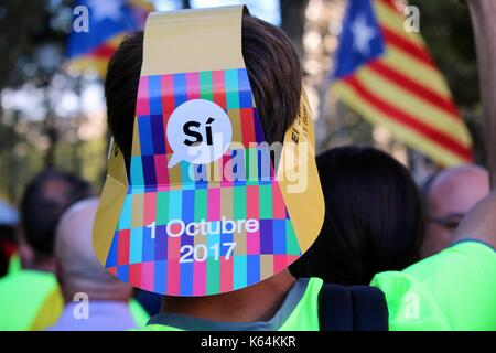 Barcelone, Espagne. Sep 11, 2017. crédit: dino/geromella alamy live news Banque D'Images