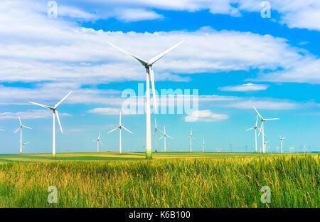 Ferme éolienne Énergie renouvelable Banque D'Images