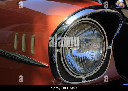 Voiture classique Chevy bel air car au salon automobile Fairfax Californie