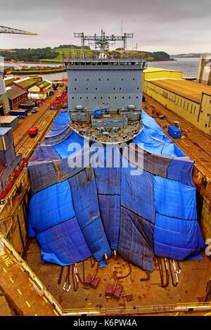 Cornwall falmouth chantier pendennis appledore avec a&p en cale sèche de demandes Banque D'Images