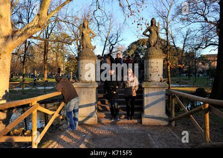 L'Italie, Lombardie, Milan, parc Simplon (Parco Sempione) Banque D'Images