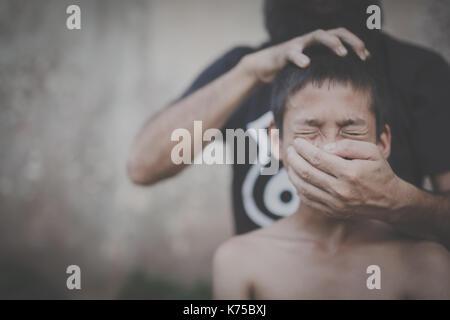 La traite des êtres humains, arrêter d'abuser la violence contre les enfants, la Journée des droits de l'concept.