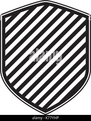Shield en monochrome et la conception de raie Banque D'Images