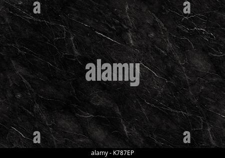 Marbre naturel noir pour modèle, l'arrière-plan noir et blanc abstrait, texture granit Banque D'Images