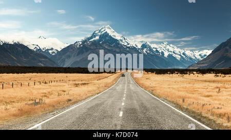 Route pittoresque de mount Cook national park, new zealand Banque D'Images