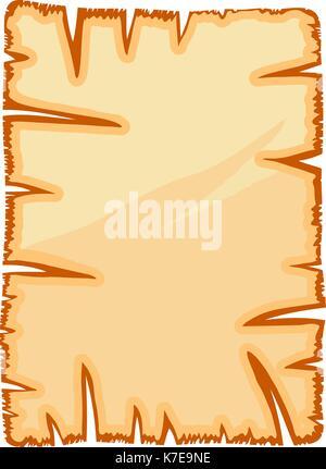 Vieux papier parchemin déchiré, symbole vecteur icône concevoir. Belle illustration isolé sur fond blanc Banque D'Images