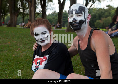 Samedi, Septembre 16th, 2017, Washington, DC USA : juggalos recueillir sur le National Mall à protester contre le Banque D'Images