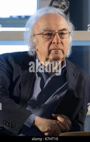 Torino, Italie. 16 septembre 2017. L'écrivain roumain Norman Manea lors d'une conférence. Manea travaille en tant Banque D'Images
