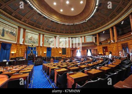Chambre des Représentants, Massachusetts State House, Boston, MA, USA