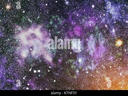 L'espace profond. La haute définition champ stellaire contexte . l'espace étoilé . texture de fond ciel étoilé coloré Banque D'Images