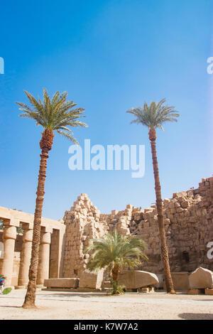 Le temple de Louxor, Egypte Banque D'Images