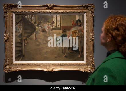 National Gallery, Londres, Royaume-Uni. 18 sep 2017, Degas. Oeuvres de la Burrell Collection à Glasgow rendez-vous Banque D'Images