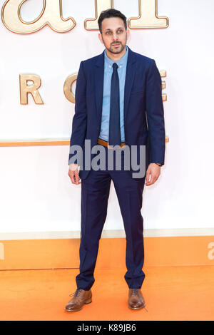 Londres, Royaume-Uni. 18 sep, 2017. dynamo assiste à l'kingsman : le cercle d'or world film premiere crédit : zuma Banque D'Images