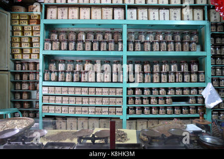 Pharmacie traditionnelle chinoise. ho chi minh ville. vietnam. Banque D'Images