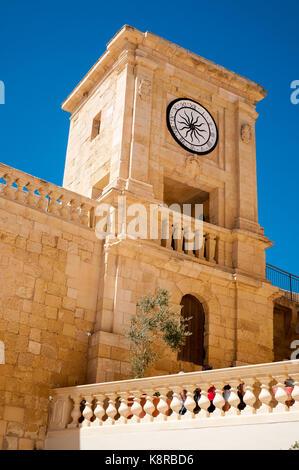 Dans la tour de la citadelle médiévale de Gozo Banque D'Images