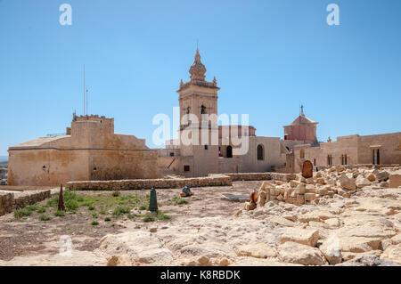 Citadelle médiévale sur l'île de Gozo, Malte Banque D'Images