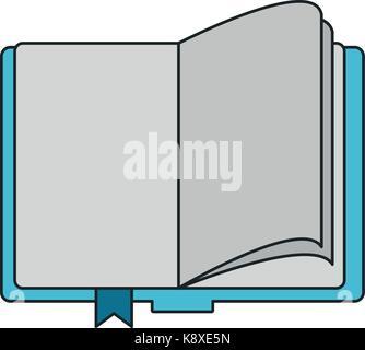 Livre ouvert avec les pages vierges de droit Banque D'Images