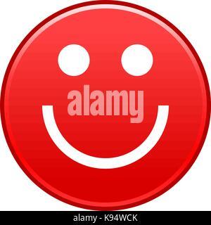 foto de Visage rouge smiley emoticon joyeux heureux et rapide forme recolorable isolé de l'arrière plan