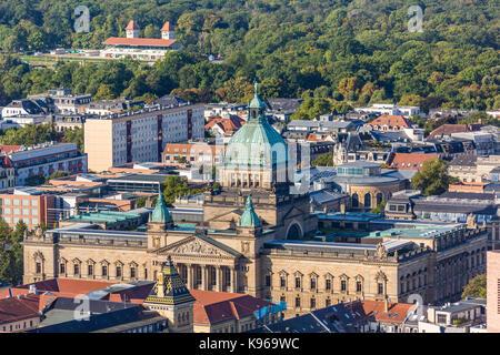 Vue aérienne de la cour fédérale administrative de Leipzig Banque D'Images