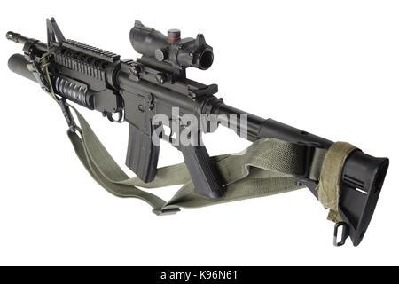 Carabine m4 équipés de lance-grenades M203 Banque D'Images