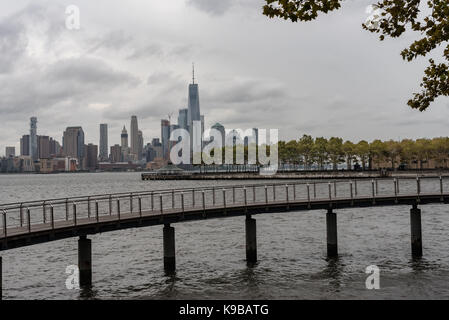 Lower Manhattan vu de Hoboken sur l'image