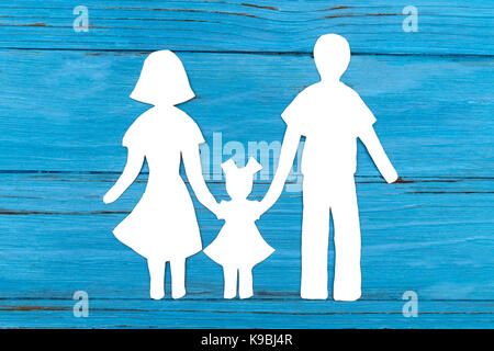 Silhouette of family papier Banque D'Images