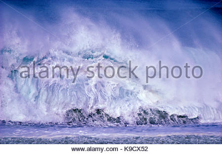 Vague blanche à North Beach, Point Reyes National Seashore, Californie Banque D'Images