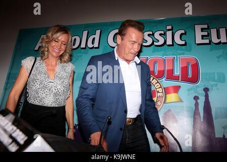 Barcelone, Espagne. Septembre 22, 2017 Arnold Schwarzenegger lors de l'Arnold Classic Europe 2017, à Barcelone, Banque D'Images