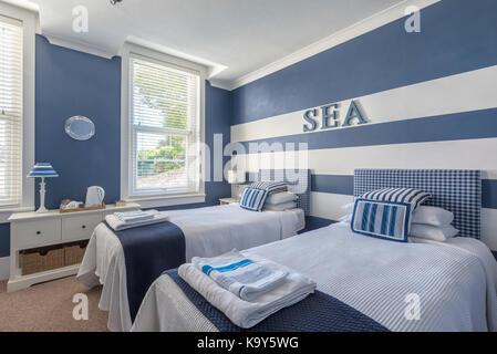 Dans une aile d'un thème bord de mer villa victorienne, côtières, littoral, style sophistiqué, milles marins Banque D'Images